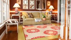I saw this on the Nate Berkus show! Painted wood floors! Are you kidding me! It looks awesome!