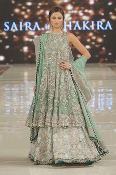 Saira Shakira Collection At Pakistan Fashion Week London 2017 - PK Vogue Pakistani Couture, Pakistani Bridal Dresses, Pakistani Outfits, Indian Outfits, Pakistani Clothing, Fashion 2017, Fashion Show, Fashion Dresses, Fashion Trends