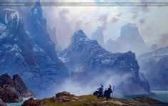 The Blue Wizards Journeying East | Ted Nasmith - Tolkien Illustrator - Renderer - Musician