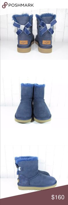 52c36494f4130 UGG Mini Bailey Bow ll Shimmer Sheepskin Boots Crafted with soft sheepskin