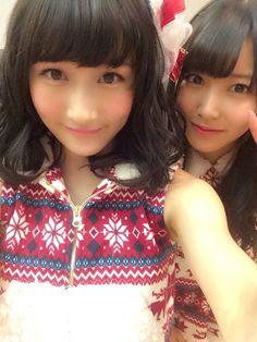 Yagura Fuuko (矢倉楓子) & Shiroma Miru (白間美瑠) - NMB48 / AKB48 - Team M / Team A - #Google+ #gravure #jpop #idol #nmb48 #beautiful #japan #selfie