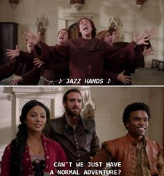 Valencian monks all take a vow of singing  #galavant