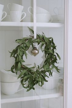 Wreath - eucalyptus wreath as fragrant Christmas decoration
