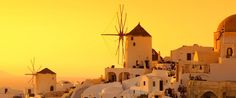 the majestic sunset of Santorini :)