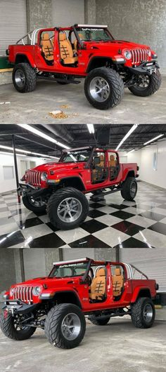 2020 Jeep Gladiator Custom Lifted Gladiator Ferrari Edition for sale Jeep 4x4, Jeep Truck, Chevy Trucks, Pickup Trucks, Cool Jeeps, Cool Trucks, Cool Cars, Jeep Gladiator, Chevrolet Silverado