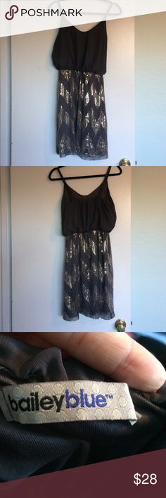 NWOT Bailey Blue sequined party dress NWOT tried on only a couple of times.  Bailey Blue sequined party dress.  Cannot model as it doesn't fit.  Make an offer! Bailey Blue Dresses