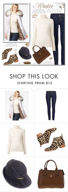 """""""White Coat"""" by truthjc ❤ liked on Polyvore featuring H&M, Chloé, Jeffrey Campbell and Kenneth Jay Lane"""