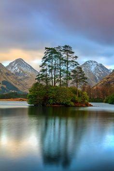 Magic island, Scottish Highland, Scotland. …
