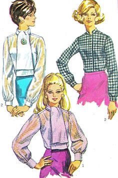 1960s Womens Blouse Pattern Simplicity 8124 by paneenjerez on Etsy, $10.00
