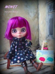 RESERVED-OOAK Custom Blythe doll Art doll MONET by by XeiderDolls