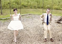 I want to have wedding-day photos at a playground so I can swing!