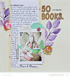 50 Books by Jen Jockisch at Studio Calico. Use it for Books, Movies, Plays, Songs etc . 12x12 Scrapbook, Scrapbooking Layouts, Paper Art, Paper Crafts, And So The Adventure Begins, Studio Calico, Child Love, Jaba, Card Kit