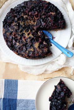 Upside-Down Blueberry Cake