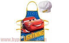 Detská pracovná zástera a kuchárska čiapka Disney Cars McQueen Disney Cars, Mcqueen, Apron, Aprons