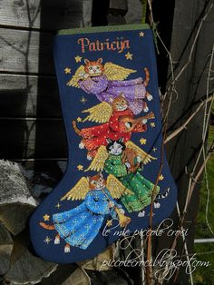le mie piccole croci: Angel Kitty Stocking