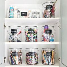 NEAT Method- organized crafts, diy ideas, arts and crafts, art supplies, art supplies storage Arts And Crafts Storage, Arts And Crafts For Teens, Art And Craft Videos, Arts And Crafts House, Arts And Crafts Supplies, Art Supplies Storage, Kids Storage, Craft Storage, Storage Ideas