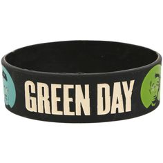 Green Day Face Dot Rubber Bracelet | Hot Topic ($7) ❤ liked on Polyvore featuring jewelry, bracelets, accessories, rubber bracelets, band merch, green jewelry, rubber bangles, dot jewelry, green bangles and polka dot jewelry