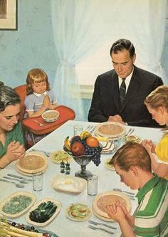 pray they like the dinner; pray they like the dinner. Vintage Pictures, Vintage Images, Retro Images, Saying Grace, Fee Du Logis, Vintage Housewife, Book Page Art, Ladybird Books, The Good Old Days