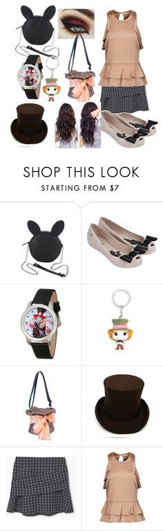 """Mad Hatter Nicole Cosplay"" by lilstarry ❤ liked on Polyvore featuring Disney, Melissa, Ferrecci, MANGO and Jonathan Simkhai"