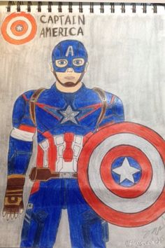 Captain America Captain America, Superhero, Drawings, Fictional Characters, Art, Sketches, Craft Art, Sketch, Kunst