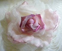 25 best silk flowers images on pinterest ribbons silk flowers and extra large silk and velvet rose off white light ivory mauve pink for hats bridal gowns weddings home dec fascinators mightylinksfo