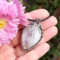 Wire wrapped pendant  Silver jewelry  by LacyLoveWireWrap on Etsy