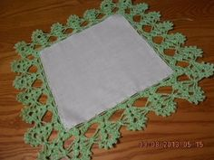Orilla # 5 tejida en una funda y en cuatro lados