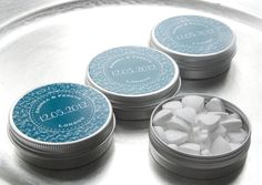 Personalised Favour Tins - in teal