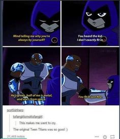 Teen Titans Show, Teen Titans Raven, Teen Titans Funny, Bbrae, Starfire And Raven, Beastboy And Raven, Teen Titans Cyborg, Robin And Raven, Original Version