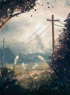 New digital illustration art fantasy animation 15 ideas Fantasy Landscape, Landscape Art, Landscape Paintings, Fantasy Art, Landscapes, Scenery Wallpaper, Environmental Art, Art Background, Anime Scenery