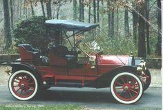 Postcard From Greece to Turkey - Auburn Model G Touring 1909