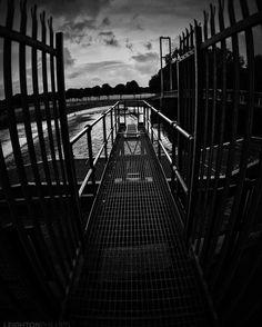 GANGPLANK #bw #bnw #bandw #blackwhite #blackandwhite #mono #monochrome #monochromatic  #pontcanna #pontcannafields #cardiff #wales #uk #thisiscardiff #CityLifeCardiff #cardiffphoto #visitcardiff #citylife #ilovecardiff #capitalcity #fineartphotography #fineart #walk #evening #urban #steelwork #river #blackweir #bridge