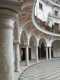 Arcades in Sevilla, Spain.