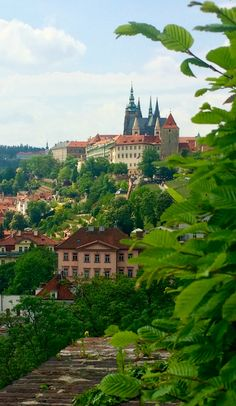 Prague castle from the east, Czechia