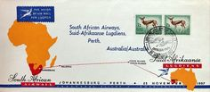 SAA inaugural flight Perth 25 November 1957