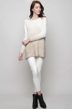 Isabella Sweater in Soft Mocha | Awesome Selection of Chic Fashion Jewelry | Emma Stine Limited