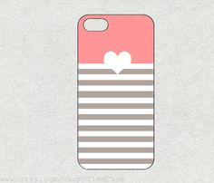 Heart Stripes hard rubber for iphone 4s iPhone 5c by TimeCase, $0.20