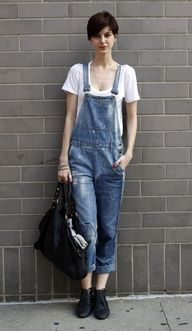 Overalls for spring. I need to figure out a way to make them look good on my body.