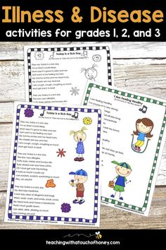 Health and Wellness - Germs and Preventing Illness and Disease Health Activities, Spring Activities, Creative Activities, Learning Activities, Consonant Blends, Jolly Phonics, Middle School English, Word Sorts, Learning Styles