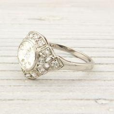 Erstwhile Jewelry Co antique engagement ring Deco Engagement Ring, Vintage Engagement Rings, Vintage Rings, Diamond Engagement Rings, Wedding Engagement, Or Antique, Antique Jewelry, Vintage Jewelry, Vintage Bracelet