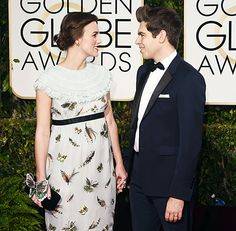 Keira Knightley and James Righton at the 2015 Golden Globe Awards