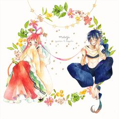 Magi: The Labyrinth of Magic// Ren Kougyoku and Judal