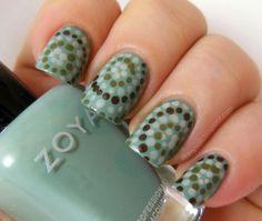 Nutral colour nail art