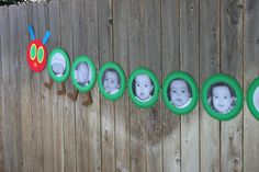 Very Hungry Caterpillar pictures- could be cute for the hallway Eric Carle, Hungry Caterpillar Classroom, The Very Hungry Caterpillar Activities, Baby Birthday, 1st Birthday Parties, Birthday Ideas, Caterpillar Pictures, Photo Garland, Chenille