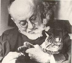 b Matisse con un gato 1948