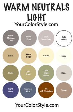 Soft Neutrals: Light & Warm – Your Color Style Club