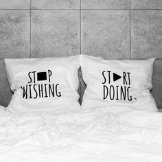 słowa, które odmienią każde wnętrze! białe, gładkie poszewki z zakładką 20 cm, 2 szt.100% bawełna (satynowana) prać ręcznie na lewej stronie maks. temp. 30°C seria: INSPIRATION #whiteplace #whiteplacepl #pillow #poszewka #dekoracja #prezent #gift #stopwishing #startdoing #poszewkadekoracyjna #homedecor #poszewki #poszewkidekoracyjne #pieknasypialnia #mojasypialnia #fome #decor #dom #codziennosc #dailiness #myhome #mojdom #wnetrza #interior #interiors #blackandwhite #black #white…