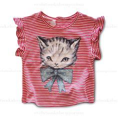 Little Wings Berry & Cream Kitten Cuteness Tee