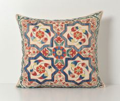 Hand Embroidered Silk Suzani Pillow Cover  Decorative by pillowme, $59.00