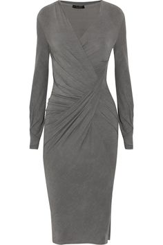 Donna Karan Draped stretch-jersey dress Make this sophisticated style the hero piece of your office-to-cocktails wardrobe. Donna Karan, Types Of Dresses, Dresses For Work, Boutique Fashion, Black Midi Skirt, Look Chic, Work Attire, Dress Skirt, Draped Dress